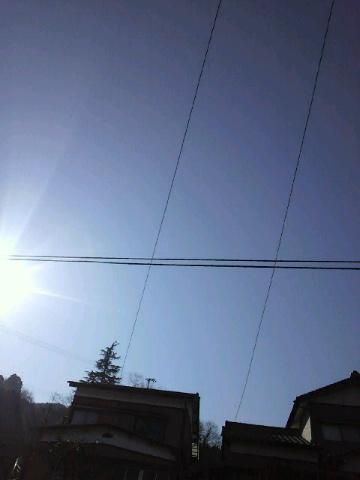 よい天気です!